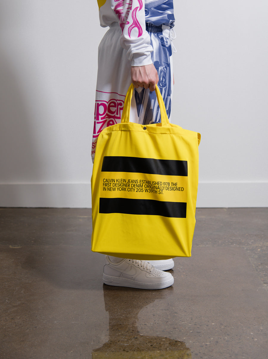 Est. 1978 Logo Small Tote Bag Yellow
