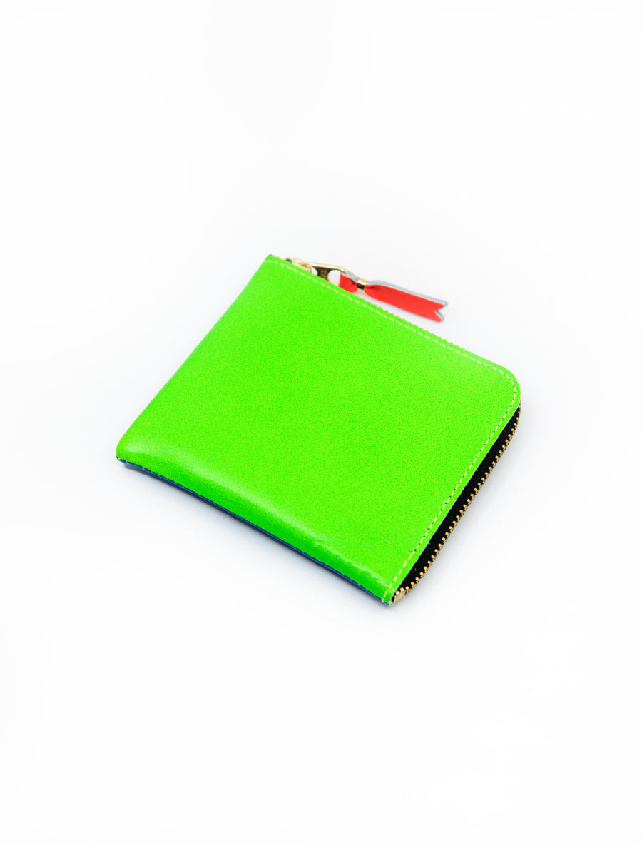 Super Fluo 2-Sided Zip Wallet Blue/Green SA3100SF