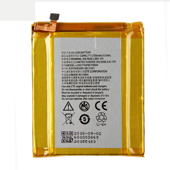Original ZTE Li3927T44P8H726044 Phone battery For ZTE Axon 7 Mini 5.2inch 2705mAh