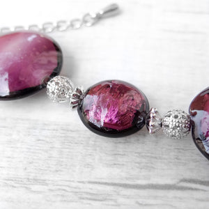 Schisse - Purple Murano Glass Bracelet