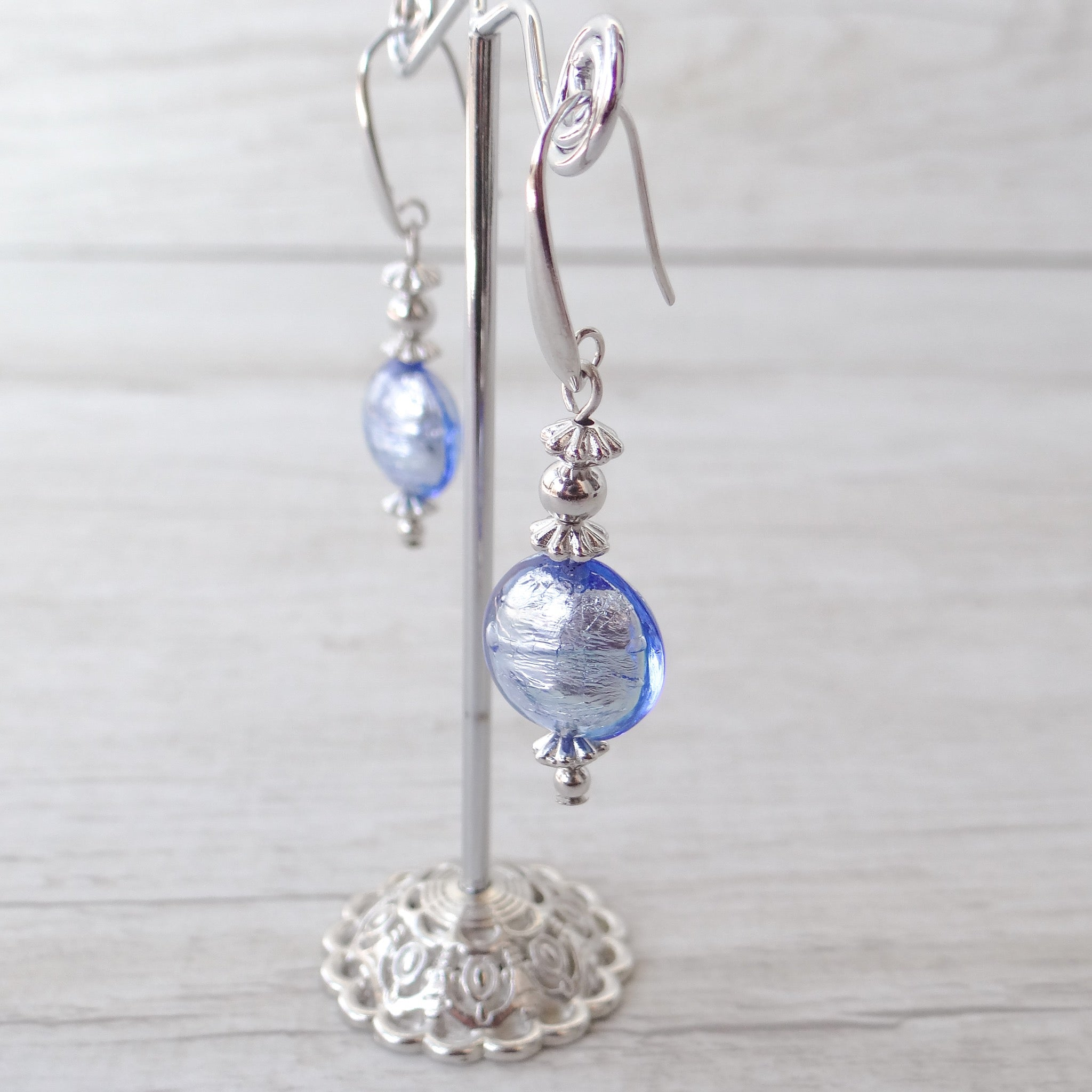Schèi - Periwinkle Murano Glass Earrings