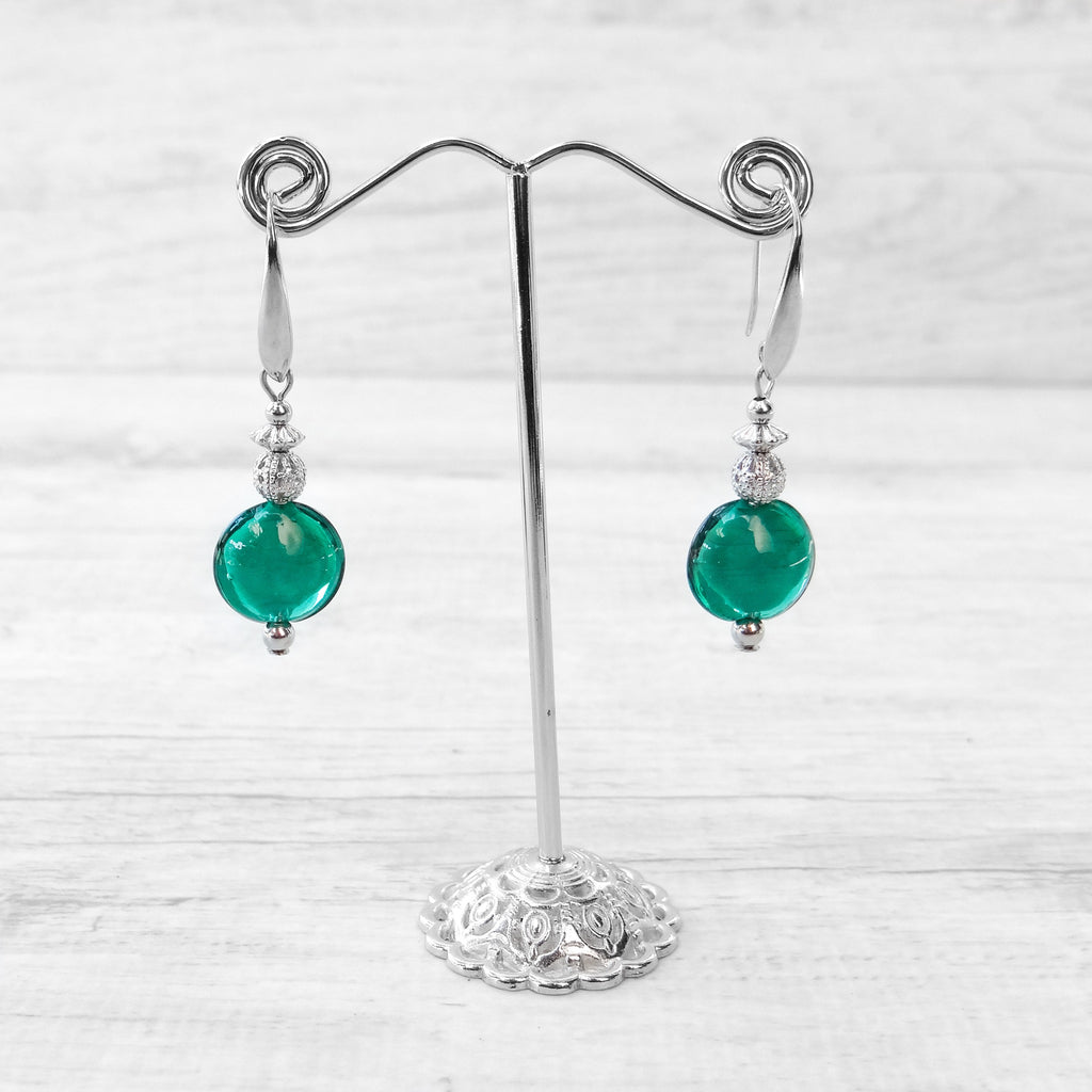 Schisse - Blue Lagoon Murano Glass Earrings
