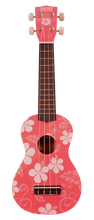 Load image into Gallery viewer, Makai Colored Soprano Ukulele w/ Flower Motif