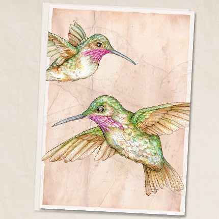 Leah Schell - Hummingbirds Card