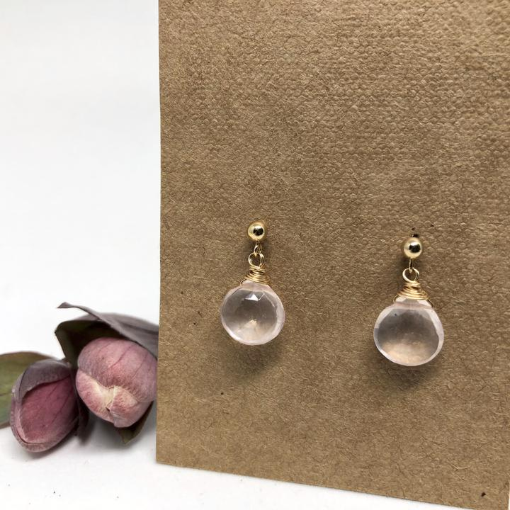 Gold Linnaea Drop Earrings (stone options)