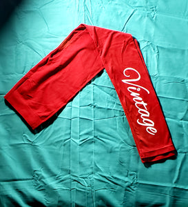 Vintage Leggings (Red)