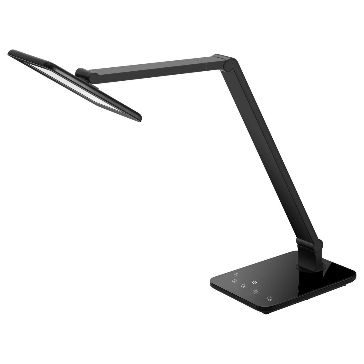 temperature adjustable black desk lamp