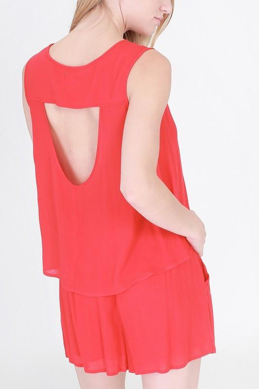 sleeveless top with cut out back - by HyFve - available at rkcollections.myshopify.com -  - Tops
