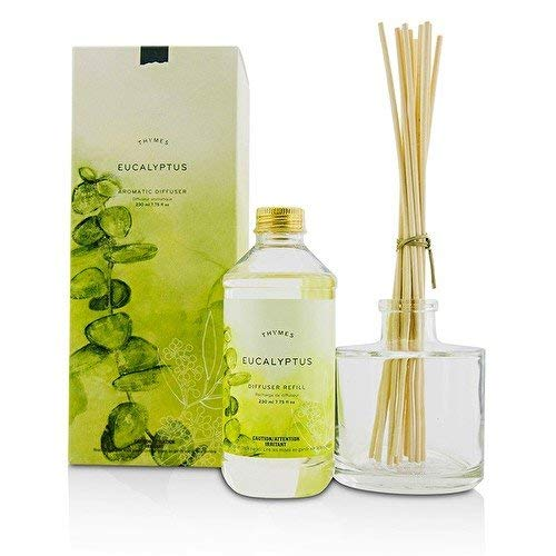 Thymes Eucalyptus Aromatic Oil Reed Diffuser - Gift Set with Premium Sticks, Glass Bottle and Scented Oil - 7.75oz