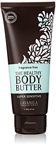 Lavanila the Healthy Body Butter Super Sensitive Fragrance Free, 6.7 Ounce