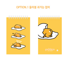 Load image into Gallery viewer, Gudetama Pocket Notebook - The Past (Yellow)