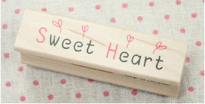 Sweet Heart Line Stamp