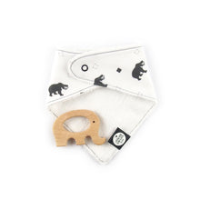Load image into Gallery viewer, Southeast Asia teething set - sun bear pattern - The Little Black & White Book Project