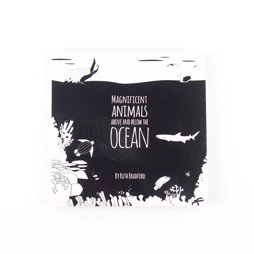 Baby book - ocean animals - The Little Black & White Book Project