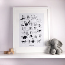 Load image into Gallery viewer, Animal Alphabet Print - The Little Black & White Book Project