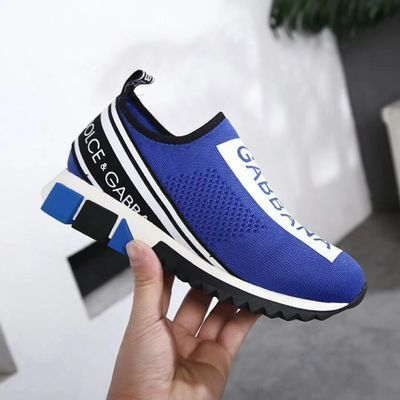European Station 2019 New Printed Letter Knit Socks Shoes Couple Sets Of Feet Lightweight Sports Casual Men And Women Shoes