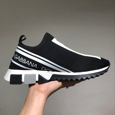 Image of European Station 2019 New Printed Letter Knit Socks Shoes Couple Sets Of Feet Lightweight Sports Casual Men And Women Shoes
