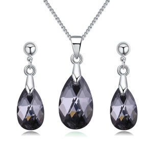 2018 BAFFIN Original Crystals From SWAROVSKI Jewelry Sets Mini Water Drop Pendant Necklaces Earrings For Women Lovers Gift