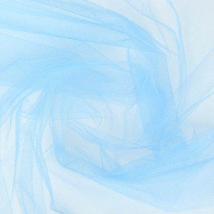 "French Blue Party Tulle Net Fabric 54"" x 50 Yards"