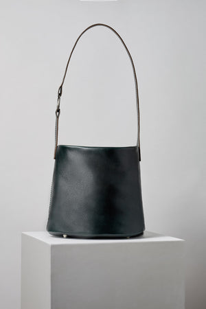 The MLE 706 Leather Bucket Bag is Made in New York