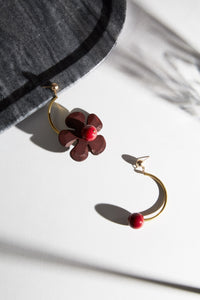 The Red Cerise Earrings are Made In New York