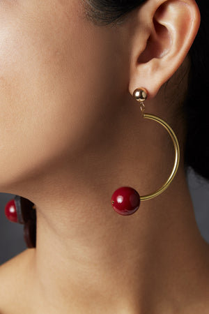 A Close-Up View of the MLE Cerise Earrings