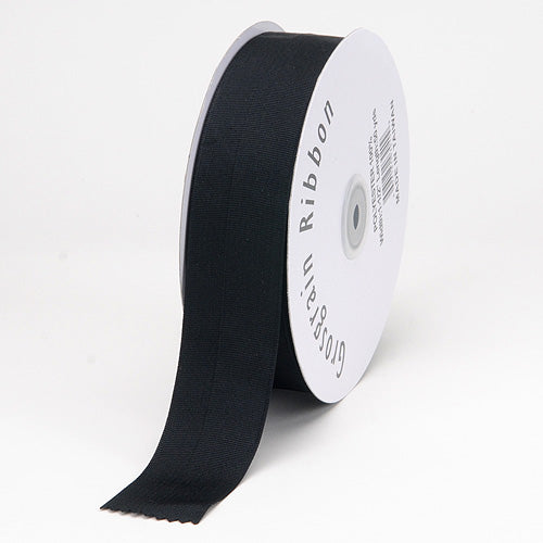 Black - Grosgrain Ribbon Matte Finish - ( 1/4 inch | 50 Yards )