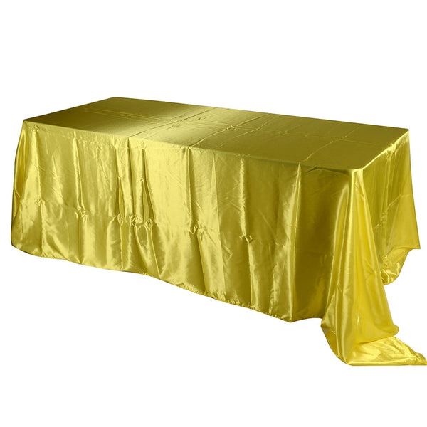 Daffodil 60 Inch x 102 Inch Rectangular Satin Tablecloths