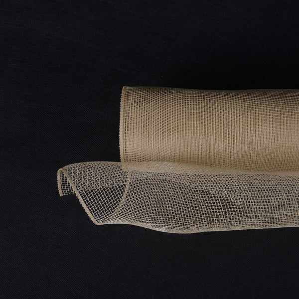 Tan  - Floral Mesh Wrap Solid Color -  ( 21 Inch x 10 Yards )