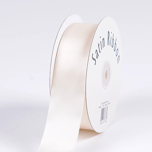 Antique White - Satin Ribbon Single Face  - ( 5/8 inch | 100 Yards )