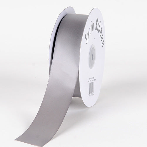 Silver - Satin Ribbon Single Face - ( 5/8 inch | 100 Yards )