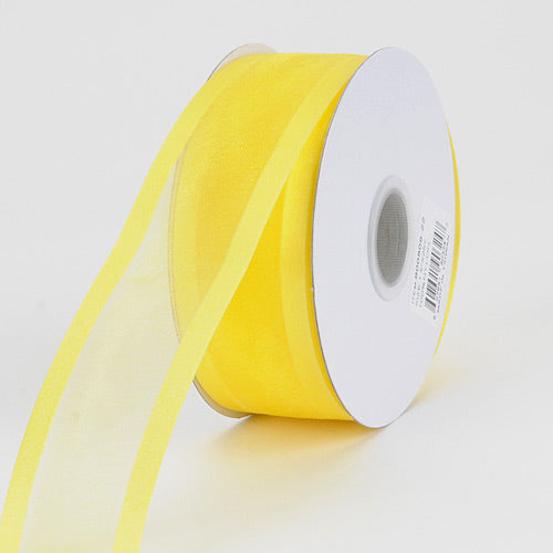 Daffodil - Organza Ribbon Two Striped Satin Edge - ( 5/8 inch | 25 Yards )