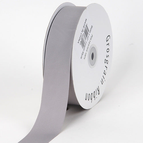 Silver - Grosgrain Ribbon Solid Color - ( W: 5/8 inch | L: 50 Yards )