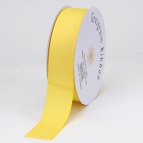 Canary - Grosgrain Ribbon Matte Finish - ( 1/4 inch | 50 Yards )