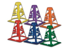 Collapsible Colored Practice Cones