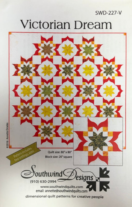 Victorian Dream SWD-227-V Quilt Pattern