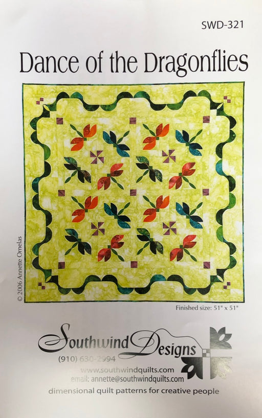 Dance Of The Dragonflies SWD-321 Quilt Pattern