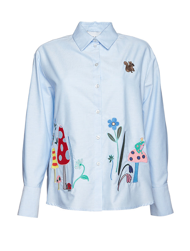 Mira Mikati Embroidered Relaxed Oxford shirt