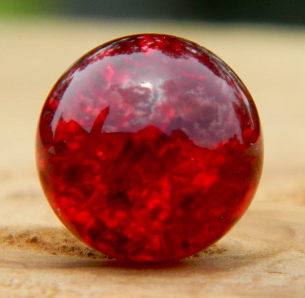 10mm Clear Cracked Dark Red