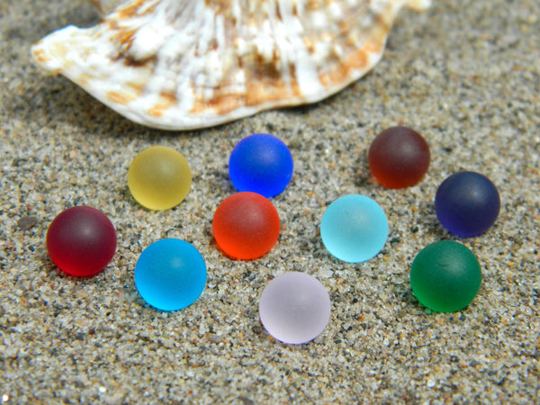8mm 10 SeaGlass Stones