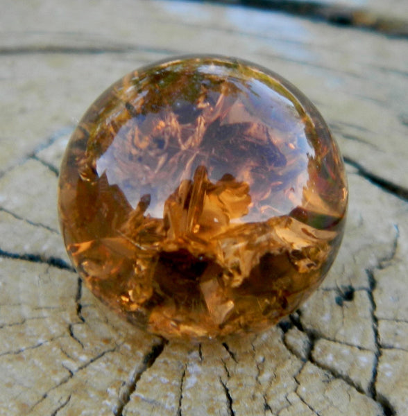 10mm Clear Cracked Amber