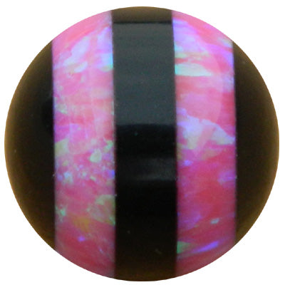 10mm Hot Pink Double Striped Opal