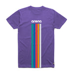 Arena 5 Stripes Purple Unisex Tee Shirt Front