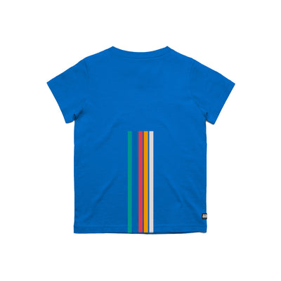 Arena 5 Stripes Blue Youth Tee Shirt Back