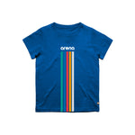 Arena 5 Stripes Blue Youth Tee Shirt Front