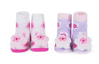 Bubsie Blog Building a Baby Wardrobe Nordstrom Cherry Blossom Rattle Socks