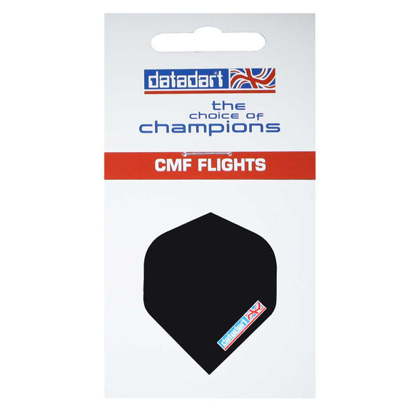 Datadart CMF-01 Plain Black Standard Shape Flights - 100 Micron