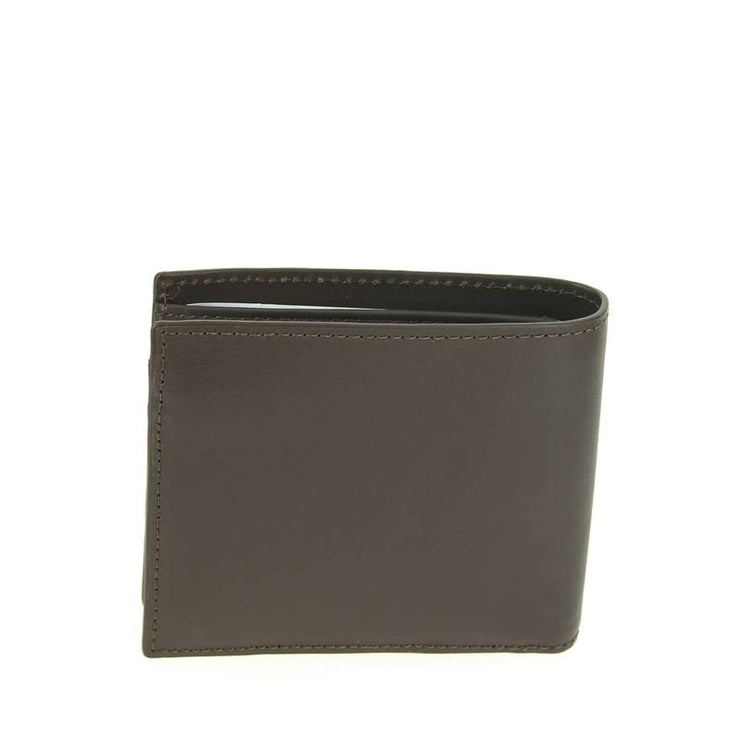 Portefeuille Lacoste homme en cuir marron LARGE BILLFORD & COIN NH1112FG 028 - dos