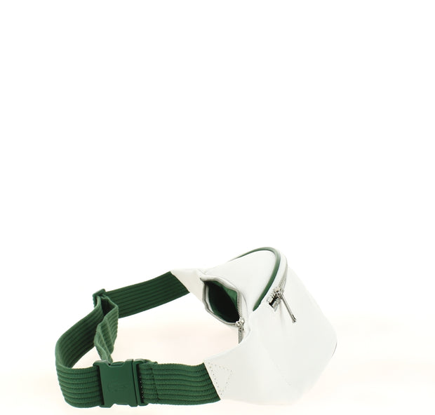 sac banane Lacoste  Nh2873MX C37 WHITE GREEN coté