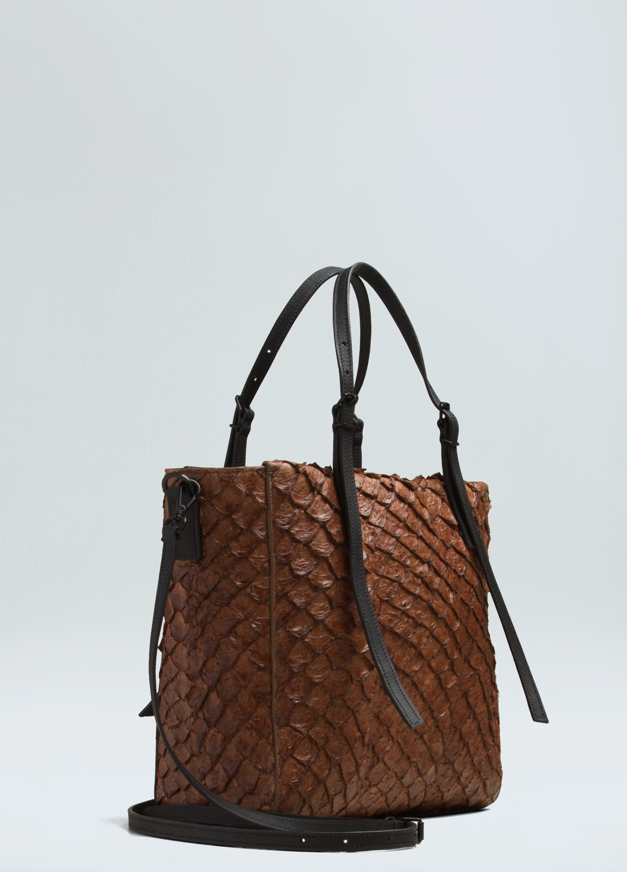 Pirarucu Brown Mini Tote Bag